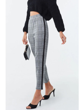 Glen Plaid Ankle Cut Pants by Forever 21