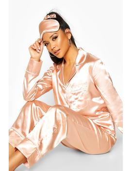 Satin Piping 5pc Pyjama Set by Boohoo