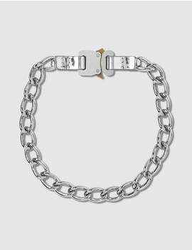 Chain Necklace With Leather Details by              1017 Alyx 9 Sm