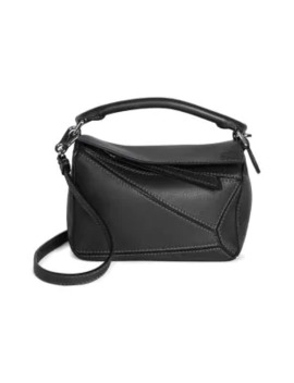 Mini Puzzle Leather Bag by Loewe