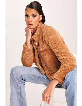 Camel Teddy Trucker Button Jacket by I Saw It First