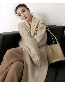 Womens Cashmere Wool Blend Knitted Sweater Cardigan Outwear Warm Long Coat 2019 by Ebay Seller
