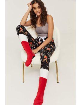 Plush Reindeer Pj Pants With Feet by Ardene