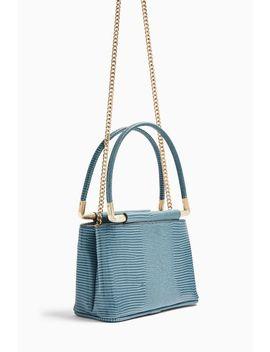 Fudge Blue Lizard Grab Bag by Topshop