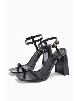 Rocco Black Flare Heels by Topshop