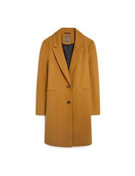 Mustard Crombie Coat by Primark