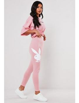 Playboy X Missguided Pink Loungewear Leggings by Missguided
