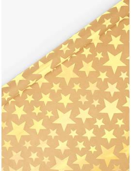 John Lewis & Partners Abc Kraft Star Gift Wrap, Gold, 3m by John Lewis & Partners
