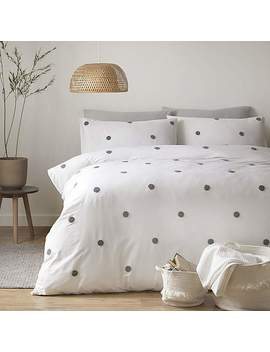 Appletree Dot Slate 100% Cotton Duvet Cover And Pillowcase Set by Dunelm
