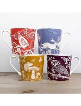 Woodland Pack Of 4 Mugs by Dunelm