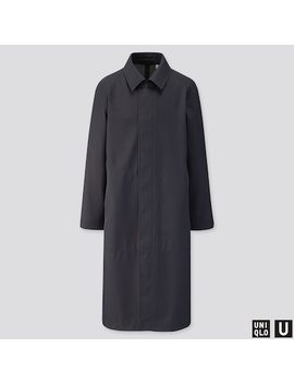 Men Uniqlo U Blocktech Oversized Coat (1) by Uniqlo