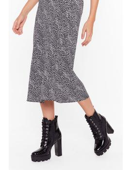 The Risk Is High Faux Leather Croc Boots by Nasty Gal
