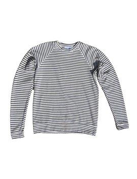 Unisex Jungmaven Sierra Raglan Sweatshirt   French Navy Stripe by Garmentory