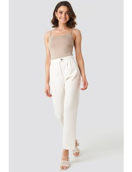 High Waist Cigarette Pants Hvid by Nakdclassic