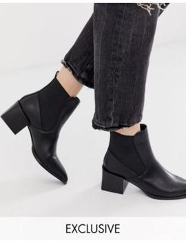 Raid – Lucinda – Exklusive, Schwarze Chelsea Stiefel Mit Blockabsätzen by Asos