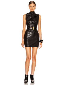 Holly Leather Dress by Rt A