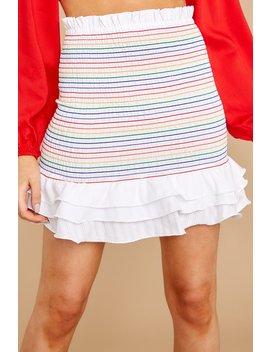 Round We Go Rainbow Stripe Skirt by Do+Be