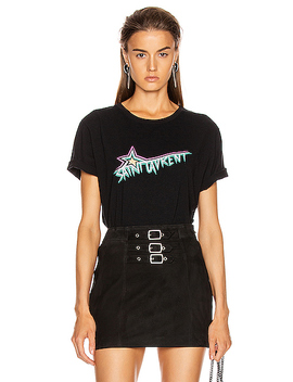 Logo T Shirt by Saint Laurent