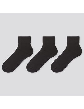 Women Crew Taper Socks (3 Pairs) by Uniqlo