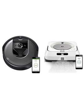 I Robot Roomba I7 Robot Vacuum With Braava Jet M6 Ultimate Robot Mop by Generic