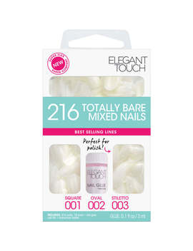 Elegant Touch Totally Bare Nails Bumper Kit   Regular Mixed Set (Stiletto/Oval/Square) by Elegant Touch