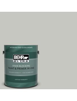 1 Gal. #N360 2 Silver Marlin Semi Gloss Enamel Interior Paint And Primer In One by Behr Ultra