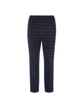 Navy Check Trouser by Primark