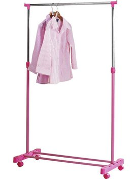 Argos Home Adjustable Chrome Plated Clothes Rail   Pink875/3184 by Argos