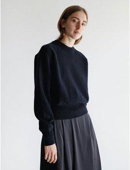 Studio Nicholson Watt Felted Volume Knit Sweater   Dark Navy by Garmentory