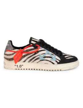 Low Top Zebra Arrow Leather Sneakers by Off White