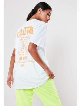 White California Back Graphic T Shirt by Missguided