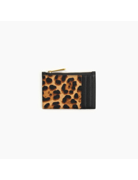 Coin And Card Case In Calf Hair by J.Crew