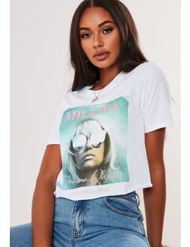 White Milano Cropped Graphic T Shirt by Missguided