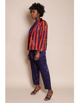 Raquel Allegra Cargo Blazer   Nightshade Stripe by Garmentory
