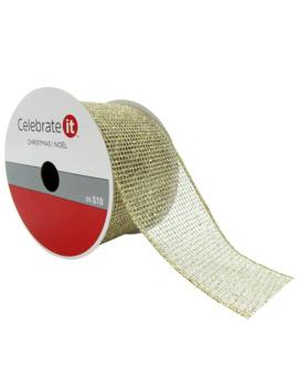 "2.5"" Net Wired Glitter Ribbon By Celebrate It® Christmas by Celebrate It"