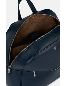 Evolution Leather Backpack by Serapian