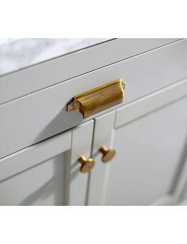 Davis Custom Sink Console Additional Hardware, Knob, Set Of 2, Brass by Pottery Barn