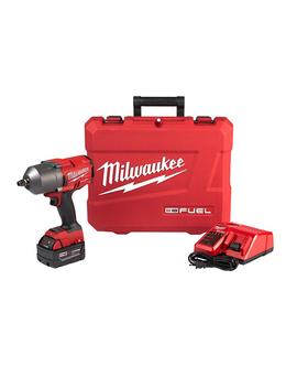 M18 Fuel 18 Volt Lithium Ion Brushless Cordless 1/2 In. Impact Wrench With Friction Ring Kit W/ One 5.0 Ah Battery by Milwaukee
