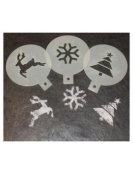 <Span><Span>Christmas Coffee / Cake  Duster Set   Christmas Craft / Airbrush Templates</Span></Span> by Ebay Seller
