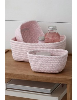Set Of 3 Paperweave Trays by Next