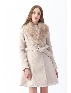 Faux Fur Collar Belted Flare Coat In Nude Pink Pearls And Beads Raw Hem Oversize Knit Sweater Delicacy Panelled Open Knit V Neck Sweater In Ivory Classy Open Front Knit Coat In Light Tan Rose Jacquard Sleeveless Midi Dress by Chicwish