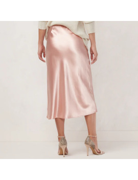 Women's Lc Lauren Conrad Satin Slip Midi Skirt by Lc Lauren Conrad