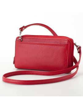 Buxton Double Zip Crossbody Convertible Wallet by Buxton