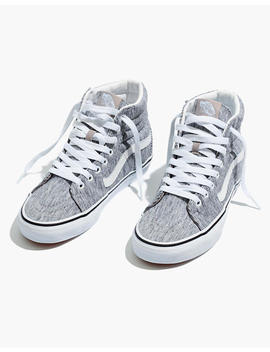 Vans® Unisex Sk8 Hi High Top Sneakers In Grey Rib by Madewell