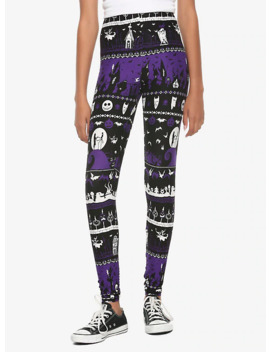 The Nightmare Before Christmas Fair Isle Leggings by Hot Topic