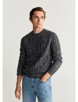 Flecked Braided Sweater by Mango