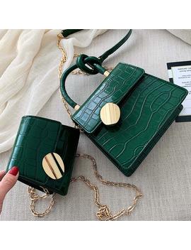 2019 Fashion New Tote Bag Quality Leather Women's Designer Handbag Crocodile Pattern Chain Shoulder Messenger Bag Bolsos Mujer by Ali Express.Com