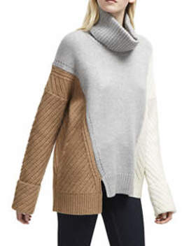 Viola Multi Cable Turtleneck Sweater by French Connection