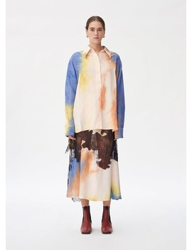 Multicolor Tie Die Button Down Top by Céline