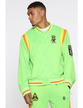 Team Aliens Jacket   Green/Combo by Fashion Nova